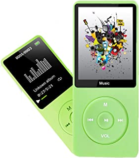 MP3 Player, Dyzeryk Music Player with 16GB Micro SD Card, Ultra Slim Music Player with Build-in Speaker, Photo Viewer, Vid...