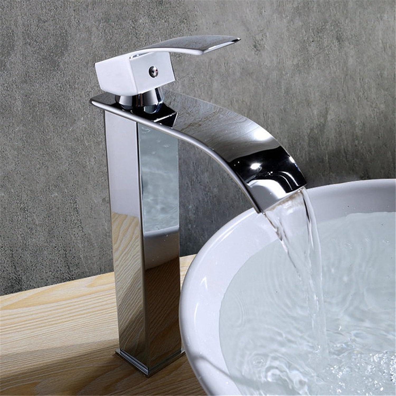 Pengei Tap Basin Mixer Kitchen Sink Mixer Faucet Full Copper Single Hole, Waterfall