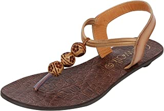 Catwalk Women's Beaded Back Strap Thong Sandals