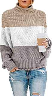 Sponsored Ad - Dokotoo Women Solid Turtleneck Balloon Long Sleeve Sweaters Pullover Outerwear