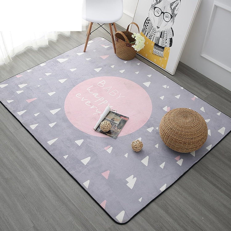 Carpet Nordic Living Room mat European-Style Simple mats Modern Bedroom mat-G 180x180cm(71x71inch)