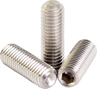 50 pcs Metric 18-8 Stainless Steel Cone Point Set Screws M2 x .4 mm Thread x 10 mm Length