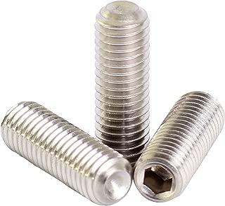 Stainless Steel Quantity: 100 18-8 M4-0.7 x 6mm - - Grub-Blind-Allen-Headless Screw Set Screws Cup Point