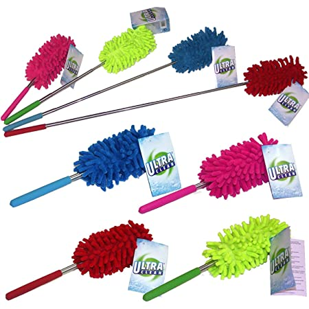 Small Microfibre Duster Cleaning Telescopic Handle Brush Extendable Feather Y5S5