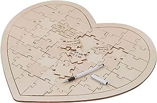 Wedding Guest Book Ideas Wedding Games Write On Wooden Heart Jigsaw 58 Pc