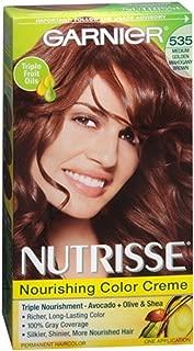 Garnier Nutrisse Haircolor Creme, Medium Golden Mahogany Brown [535] 1 ea