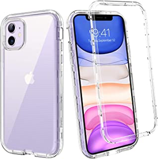 BENTOBEN for iPhone 11 Case (2019), Clear Transparent 3 Layer Heavy Duty Rugged Full Body Shockproof Hybrid Hard PC Soft Bumper Protective Phone Cases Cover for iPhone11 2019 6.1inch, Crystal Clear