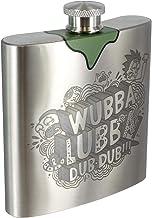 Paladone Unisex's Rick & Morty Rick's Wubba Lubba Dub Hipflask | Acero inoxidable metal | 6 oz petaca con tapa de rosca | Ideal para camping, deportes, al aire libre y caminar, plata, talla única