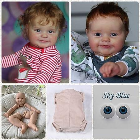 Lifelike Reborn Baby Doll Kit DIY Making Supplies 22 Inch Unpainted Doll Kit Set