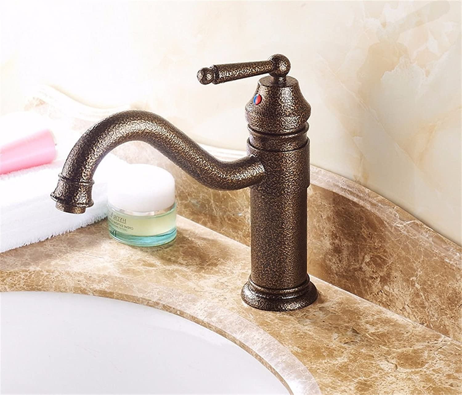 Hlluya Professional Sink Mixer Tap Kitchen Faucet Antique hot & cold water single hole single handle bathroom basin mixer