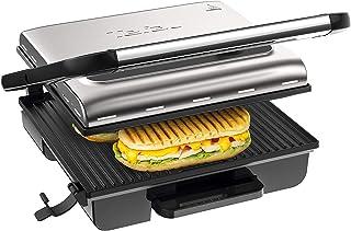 Tefal G242D Grill à viande, poisson, légumes, sandwich et sandwich avec thermostat réglable de 2000 W, bac à jus anti-fuit...