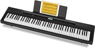 Donner 電子ピアノ 88鍵 ウェイテッド鍵盤 初心者向け タッチ感度調整機能付き 128種音色 サステインペダル付属 日本語取扱説明書 PSE認証済 ブラック DEP-20