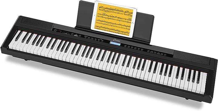 Pianoforte digitale 88 tasti pesati con pedale, full weighted piano elettroniche fullsize per principianti DEP-20