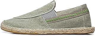 MAIAMY Hommes Chaussures de Toile décontractées élégantes Confortables Chaussures Plates légères Chaussures de Bateau de P...