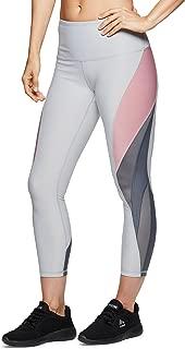 RBX Active Women's Athletic Gym Workout Yoga Capri Length Legging Mesh
