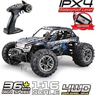 Fistone RC Truck 1:16 High Speed Racing Car, 24MPH 4x4 Off-Road Waterproof Vehicle 2.4Ghz Radio Remote Control Monster Truck Dune Buggy Hobby Toys for Kids & Adults