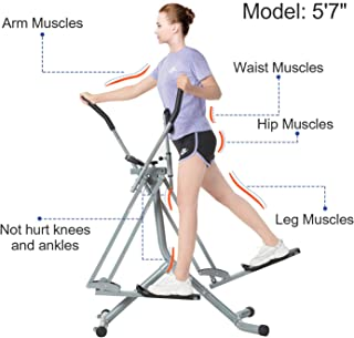 Tiptiper Air Walk Trainer Air Walker Exercise Machine with LCD Monitor, 220 LB Max Weight and 36 Inch Stride
