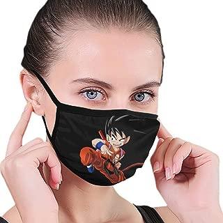 Teen Goku Super Hero Dragon Ball Z Super Saiyan - Unisex Anti Dust Face Mask for Girls, Reusable Dustproof Earloop Face Mouth Mask With Black Border