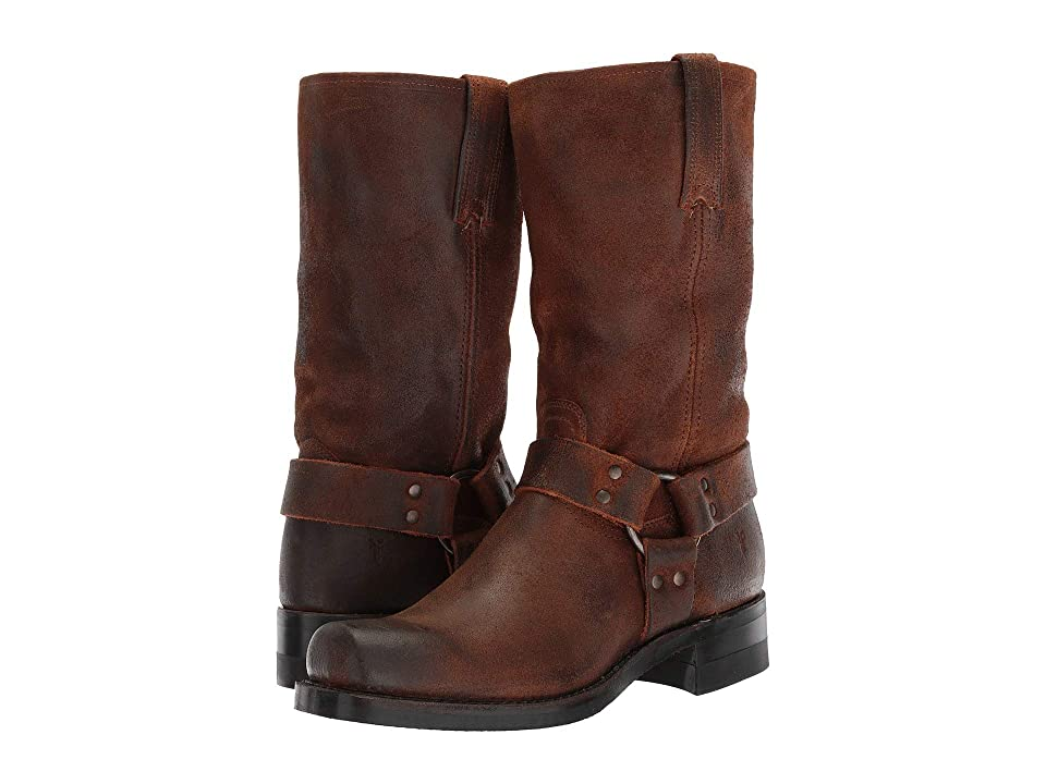 Frye Harness 12R (Brown Waxed Suede) Cowboy Boots
