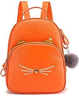 حقيبة ظهر روسي كات صغيرة للنساء حقيبة ظهر جلدية صغيرة لطيفة حقيبة يومية كاجوال للبنات