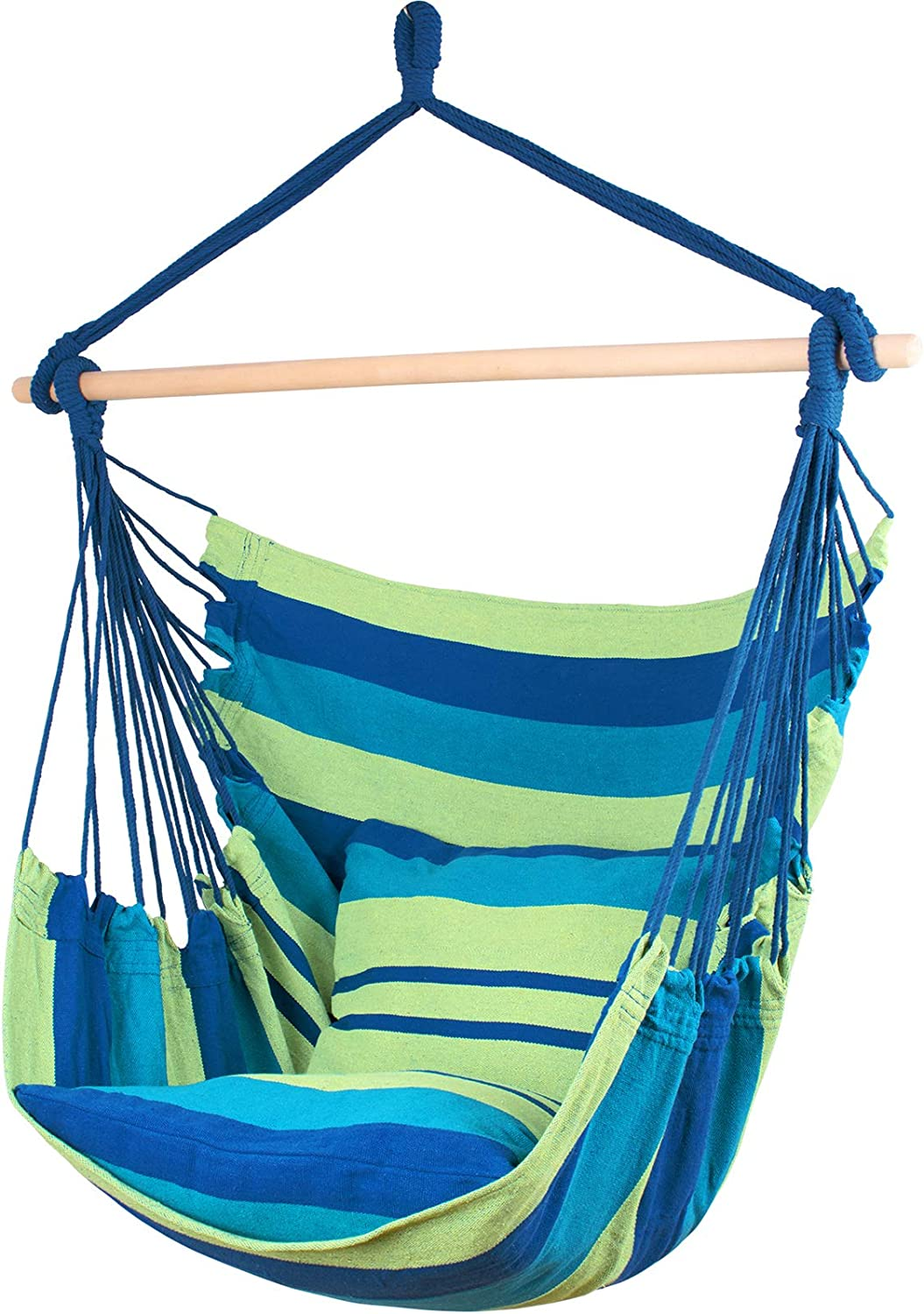 Ankwell Hammock Chair Hanging Rope Swing Cushions Inclu - 2 We OFFer at cheap prices Seat half