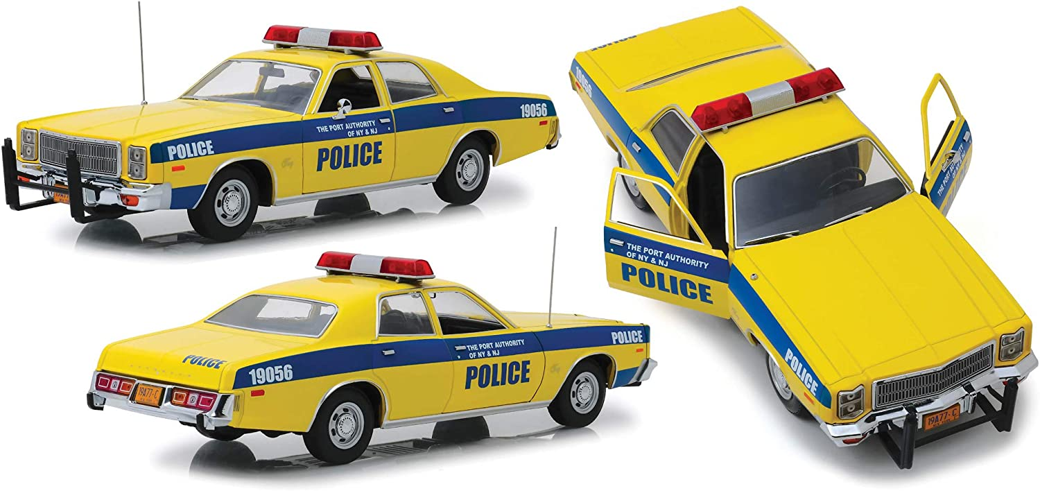 Grünlight Plymouth Fury 1977 Port Authority Police gelb blau Modellauto 1 18 Collectibles