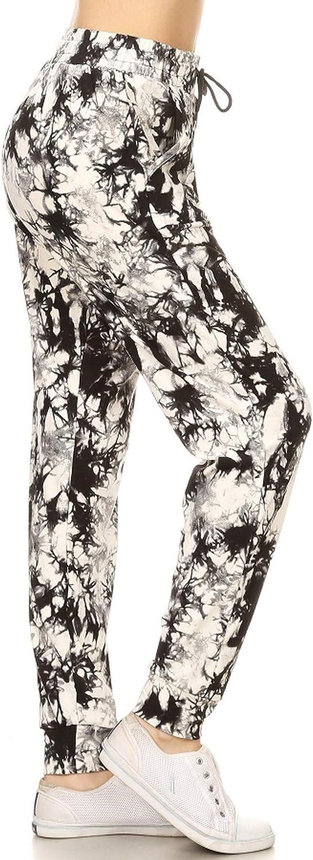 Leggings Depot Women's Popular Print Jogger Premium High Waist Sales results No. Max 47% OFF 1 T