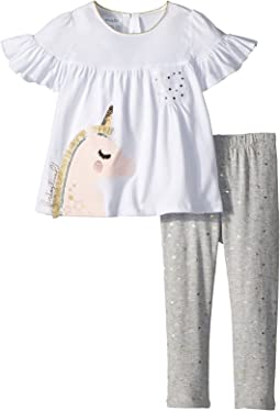Mud Pie Unicorn Tunic and Leggings Two-Piece Set (Infant/Toddler)
