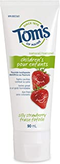 Tom's of Maine Children's Silly Strawberry Natural Fluoride Toothpaste, 90 mL