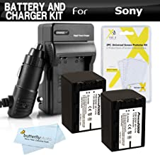 2PK Replacement NP-FV70 Battery and Charger Kit for Sony HDR-CX130 HDR-CX150 HDR-CX160 HDR-CX560V HDR-CX700V HDR-PJ10 HDR-PJ30V HDR-PJ50V HDR-TD10 HDR-XR160 HDR-PJ670, FDR-AX33 Handycam Camcorder