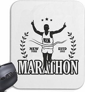 comprar comparacion Mousepad alfombrilla de ratón MARATHON MARATHON corredor de maratón EE.UU. CAMISA MARATHON MEDIA MARATÓN DE SAN DIEGO CALI...
