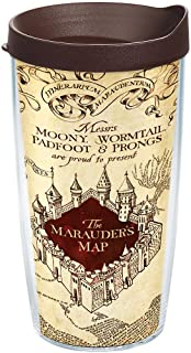 Tervis Harry Potter - The Marauder's Map Tumbler with Wrap and Brown Lid 16oz, Clear