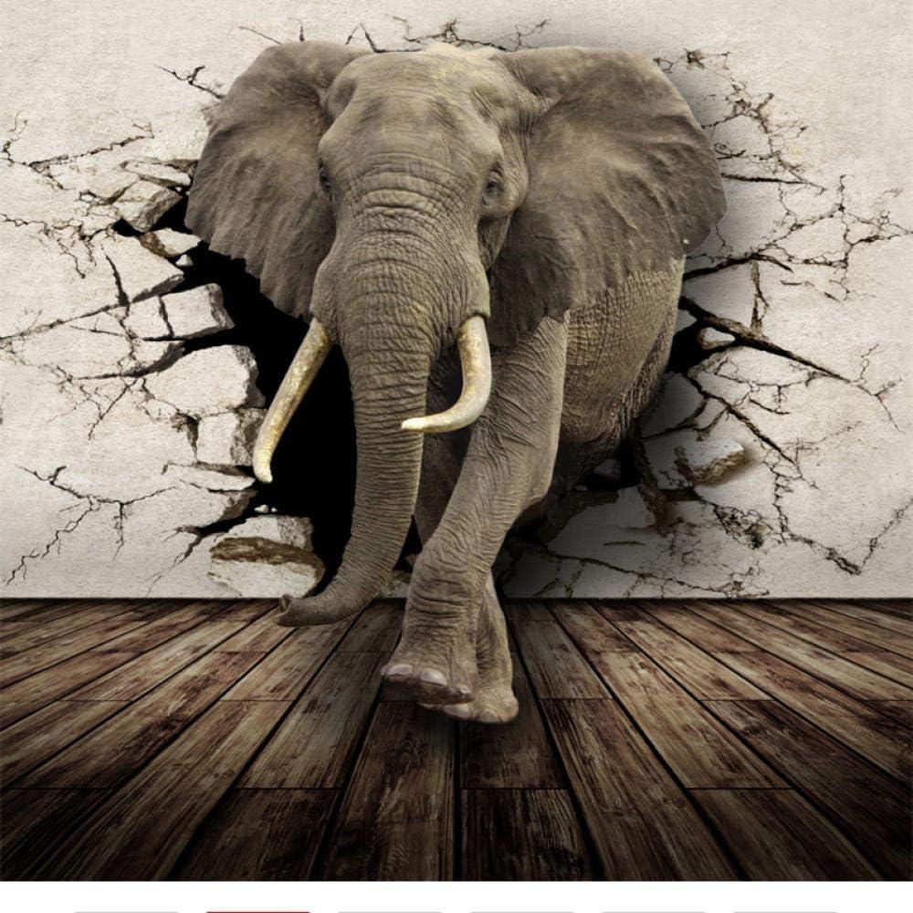 Shuangklei Custom 3D Photo Wallpaper Bedroom Animal Mur Elephant Selling rankings Genuine