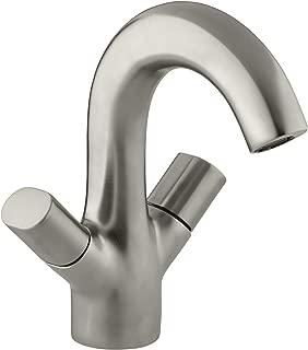KOHLER K-10085-9-BN Oblo Two-Handle Monoblock Lavatory Faucet, Vibrant Brushed Nickel