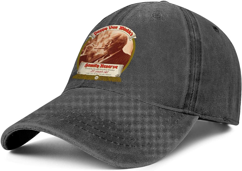 Unisex Cowboy Cap trust Pappy-Van-Winkle- Large special price !! Vintage Ba Adjustable Washed