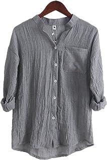 cedc0ef803 Amazon.it: camicia lino - Grigio / Donna: Abbigliamento