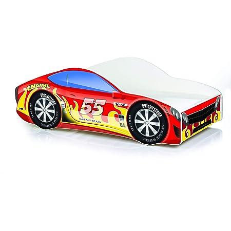 Cama Auto coche Cars 160 x 80, con somier y colchon: Amazon ...