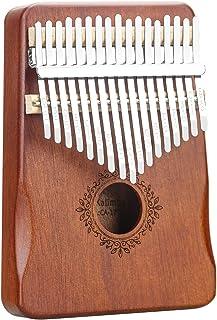 Kalimba 17 clés Piano à pouce Marimba en bois portable de haute qualité avec marteau d'accordage, manuel d'étude, sac de t...