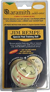 "Aramith Jim Rempe Training Cue Ball 2-1/4"" Regulation Size Billiard Pool Ball with.."
