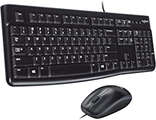 Logitech Desktop MK120 Durable, Comfortable, USB Mouse and K