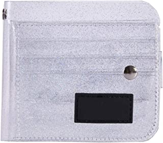 Bageek Card Wallet See Through Glitter Card Holder Card Bifold Wallet with Lanyard for Women