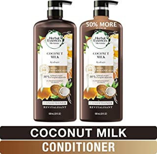 Herbal Essences, Conditioner With Natural Source Ingredients, Color Safe, BioRenew Hydrating Coconut Milk, 20.2 fl oz, Twin Pack