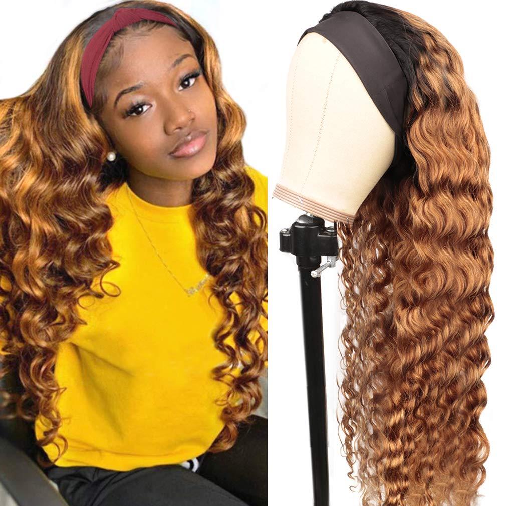 Haha Loose Deep Wave Wig Human Popularity Easy-to-use for Black Wigs Headband Hair Wome