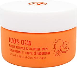 W7 | Peachy Clean Makeup Remover and Cleansing Balm | Peach-Scented Emulsifying Cleanser | Remove Impurities and Makeup | ...