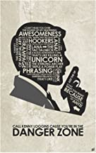 Sterling Archer. Danger Zone. Word Art Print Poster (12