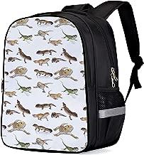 School Backpack for Boys/Girls/Kindergartener Reptile Lizard Personalized 3D Printed Kids Shoulders Bag Bookbag Lunch Bag Travel Daypack Small