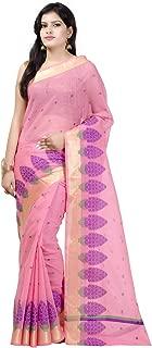 Women's Cotton Blend Indian Ethinc Banarasi Saree with Unstitched Blousepiece(1102)