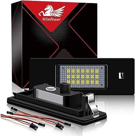 2 St/ücke WinPower LED Kennzeichenbeleuchtung Gl/ühbirnen Nummernschildbeleuchtung Lampe 3582 SMD mit CanBus Fehlerfrei 6000K Xenon kaltwei/ß zum A1//A3//A4//A5//A6//A7//Q3//Q5//TT usw