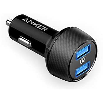 Anker PowerDrive Speed 2 (Quick Charge 3.0 & Power IQ対応 39W 2ポート カーチャージャー) 【Quick Charge 3.0】iPhone / iPad / Galaxy S9, Xperia XZ3,その他Android各種 対応