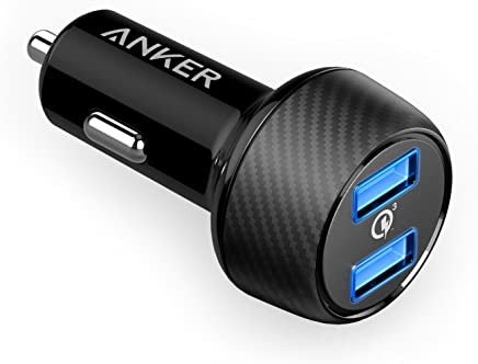 Anker Quick Charge 3.0 39W Dual USB Car Charger, PowerDrive Speed 2 for Galaxy S9/S8/Edge/Plus, PowerIQ for iPhone Xs/XS Max/XR/X/8/7/6/Plus, iPad Pro/Air 2/Mini, LG, Nexus, HTC and More